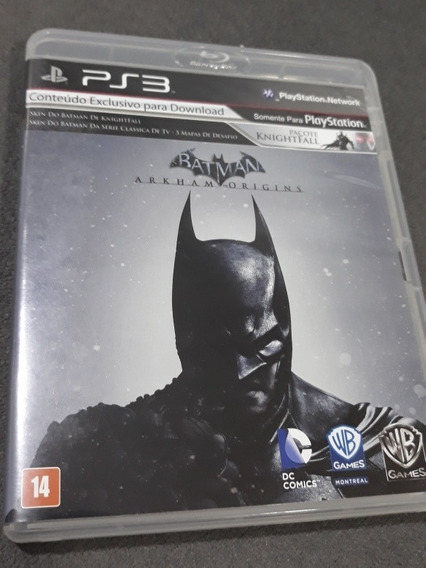 Jogo Batman Arkham Origins Ps3 Midia Fisica Estado De Novo