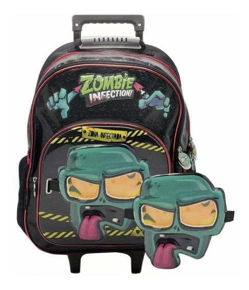 Mochila Carro Mascara Zombie Infection 16 Pulgadas Infantil