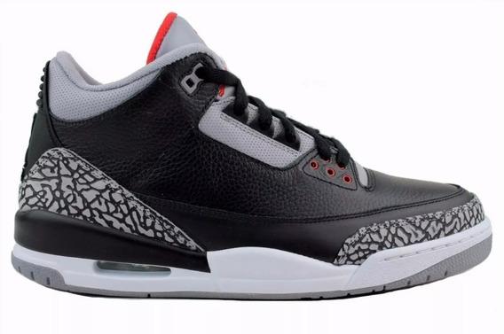 Tennis Air Jordan 3 Retro Black Cement Modelo 2011 Size Us11
