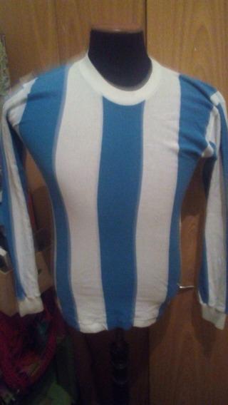 Antigua Camiseta Pique * Argentina * Mangas Largas Años 60/70 T 40