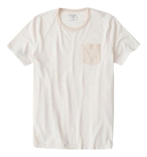 Imagem 1 de 8 de Camiseta Abercrombie Masculina  Short-sleeve Bolso Orig. Eua