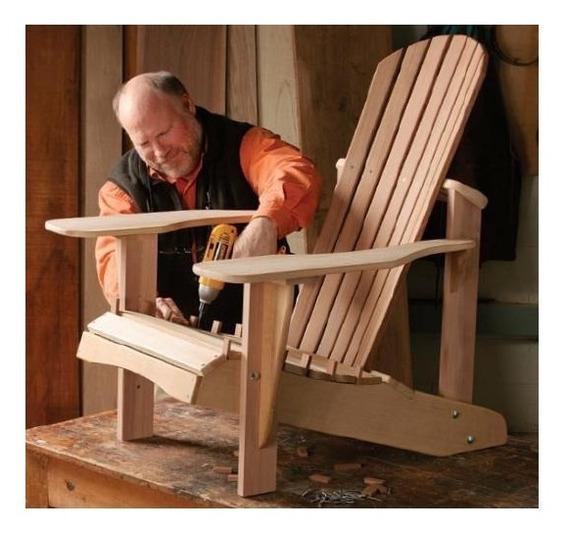 Projeto Cadeira Adirondack + Brinde