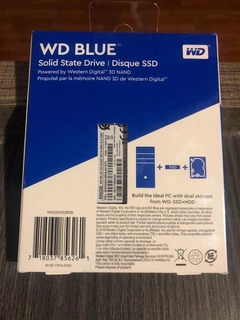 Disco Sólido Ssd M.2 22x80mm Wd Blue 3d Nand 500gb Sata 3.0
