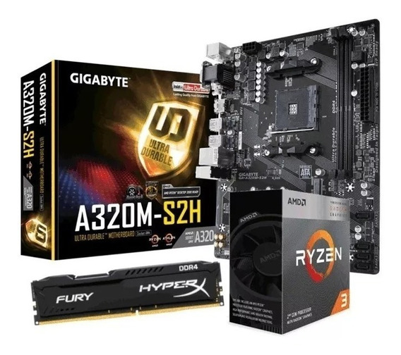 Kit Amd Ryzen 3 3200g + A320m-s2h + 8gb Ddr4 2666mhz