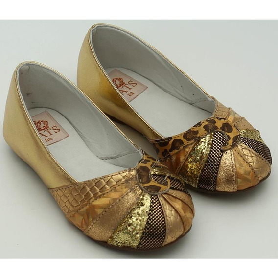 Sapato Metalizado Ouro