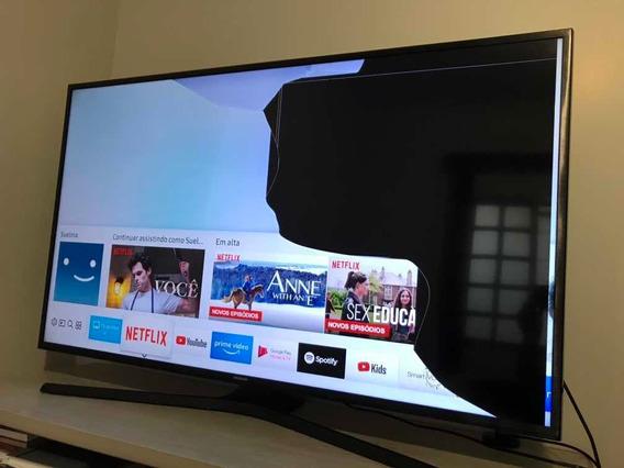 Smart Tv 4k 49 Samsung 49mu6100 / Tela Trincada.