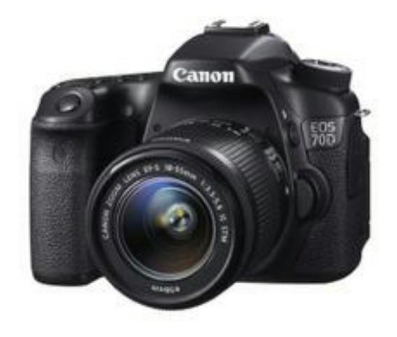 Câmera Digital Canon Eos 70d 20.2mp 3.0 Corpo