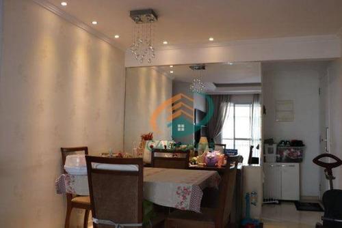Imagem 1 de 10 de Apartamento Com 3 Dormitórios À Venda, 64 M² Por R$ 340.000,00 - Ponte Grande - Guarulhos/sp - Ap1994