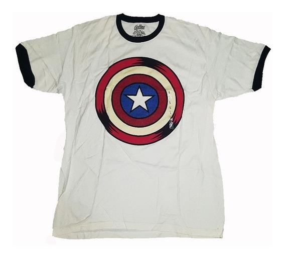 Remera Capitan America Marvel Original Talle Xl Import Nueva