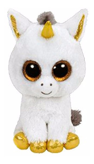 Beanie Boos Coleção Pelúcia Ty Unicórnio Branco
