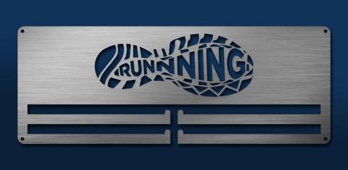 Imagen 1 de 6 de Medallero Running Shoe Porta Medallas Personalizado Gratis