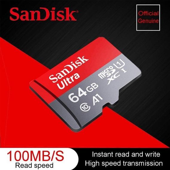 Cartão Memoria Micro Sd 64gb Sandisk Classe 10 80mbs
