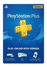 Psn Plus Playstation 12 Meses Ps3, Ps4 1 Año Cuentas Usa