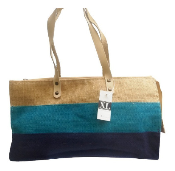 Bolso Playero Cartera Arpillera Extra Large Xl