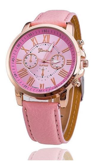 Relógios Femininos Geneva Rosa Claro - Promoção
