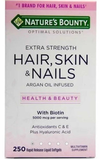 Hair, Skin & Nails Cabelo Pele Unhas 250cps Nature