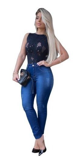 Kit 03 Calças Jeans Cintura Alta Levanta Bumbum Premium Lux