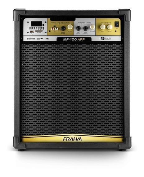 Caixa Amplificada Frahm Mf400 App 80w R Bluetooth Usb Sd Fm