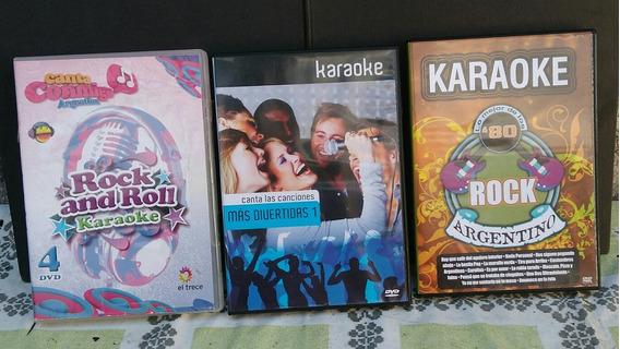Karaoke Dvds Originales Lote X3 (no Se Vende Por Separado)