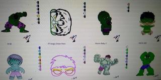 10 Matrizes Para Bordado- Hulk