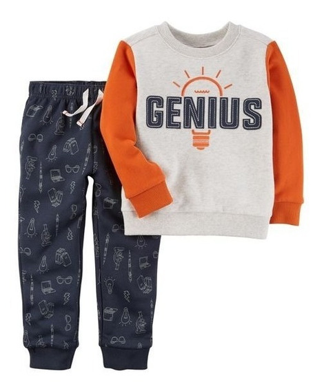 Conjunto De 2 Piezas Carter´s Genius Top Y Fleece Jogger
