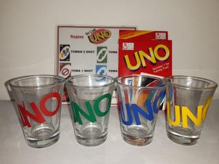 Juego Uno Drink Con 4 Shot