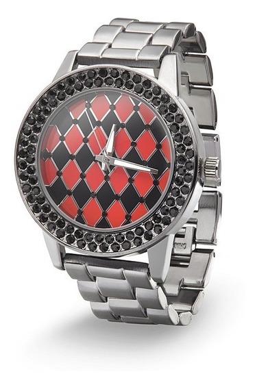 Reloj Estampado A Cuadros Harley Quinn