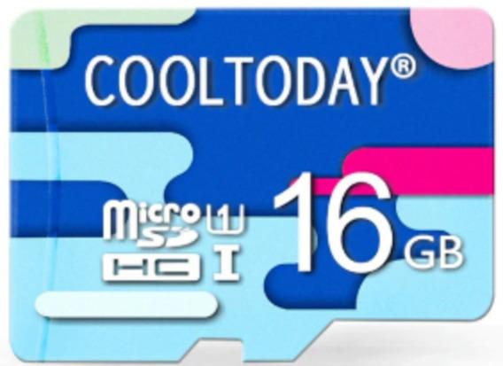 Cartão Memória Micro Card Sd 16gb Classe 10 Cool Today