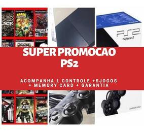 Play2 + Controle + 5 Jogos + Memory Card Garantia 90 Dias