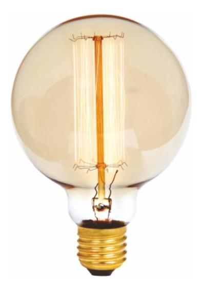 Lâmpada Filamento Carbono G95 Dimerizável E27 40w G-light