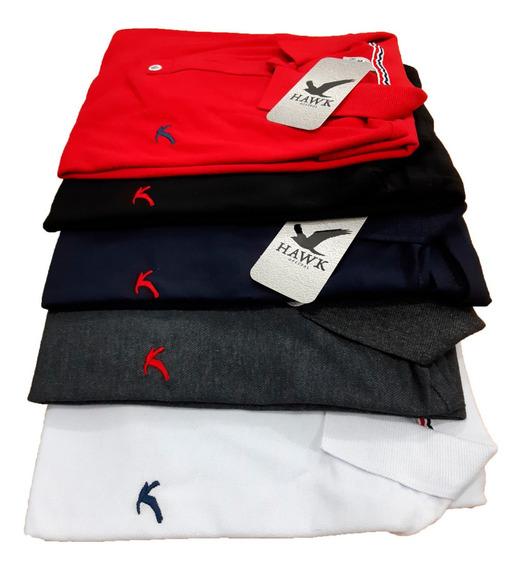 Kit 5 Camisetas Gola Polo Masculina. Atacado, Famosa