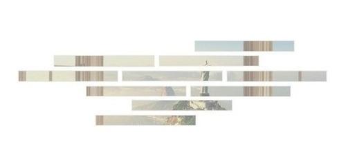 Imagem 1 de 1 de Espelho Decorativo Listras Em Acrílico 10 Peças 5x50 Cm