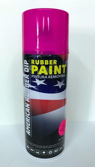 Vinilo Líquido Fluo - Pintura Removible En Aerosol American Rubber Dip X 400 Ml
