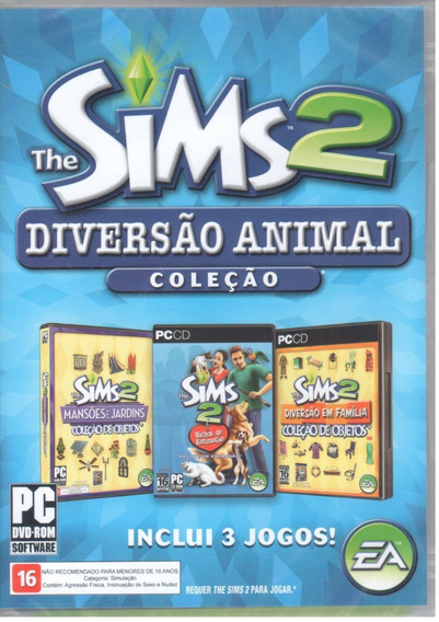 The Sims 2 Diversão Animal Pc Original Mídia Física Lacrado