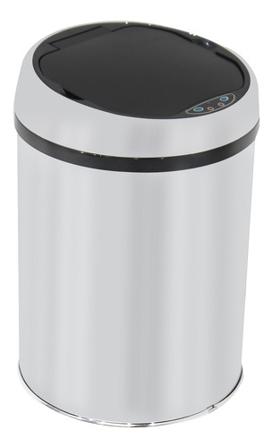 Lixeira Automática Inox Sensor Balde Interno Removível 9l