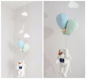 Móbile Bebê De Teto - Cachorrinho E Balões
