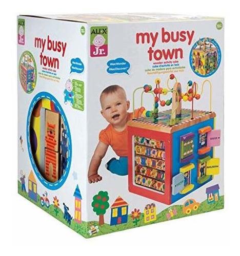 Cubo De Actividades De Madera Alex Discover My Busy Town