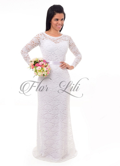 Vestido De Noiva,cartório,civil,casamento,jkml