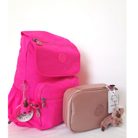 Kit Mochila Pink Fluor+ Estojo 100 Pens