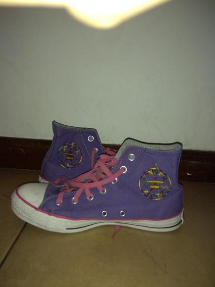 Botitas Converse All Star Talle 39 Color Violeta