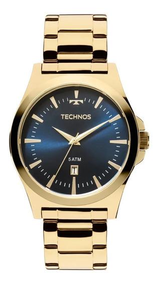 Relógio Dourado Masculino Technos Classic 2115lan/4a.