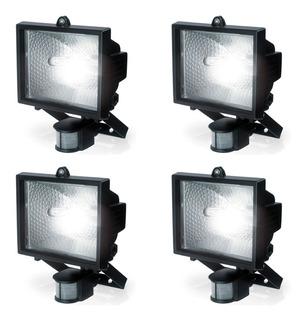 Pack X4 Reflector Proyector Con Sensor 500w 118mm