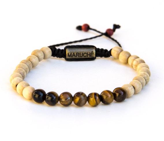 Pulseira Beads Wood Tiger