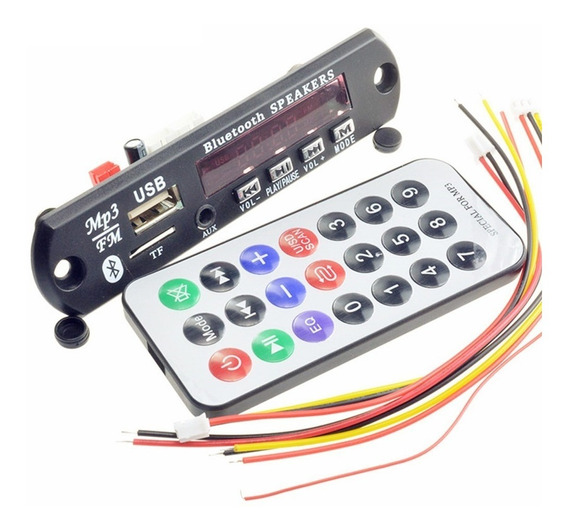 Placa Para Amplificador Caixa Ativa Usb Mp3 Fm Aux Pen Drive