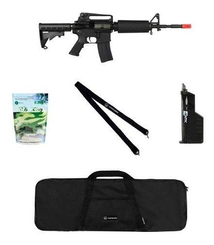 Rifle Airsoft King Arms M4a1 Grade + Acessórios + Bbs