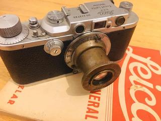 Leica 3a + 1936/37 Con Lente Elmar F:5cm 1:3.5 + Catalogo
