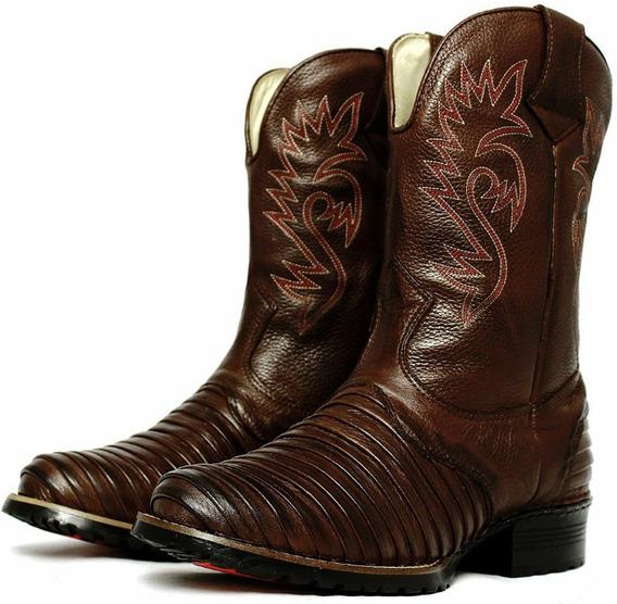 Bota Texana Masculina 100 % Couro Country Montaria