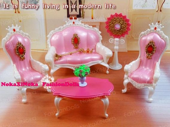 Sala De Estar Princesa Para Casa De Boneca Barbie * Sofá