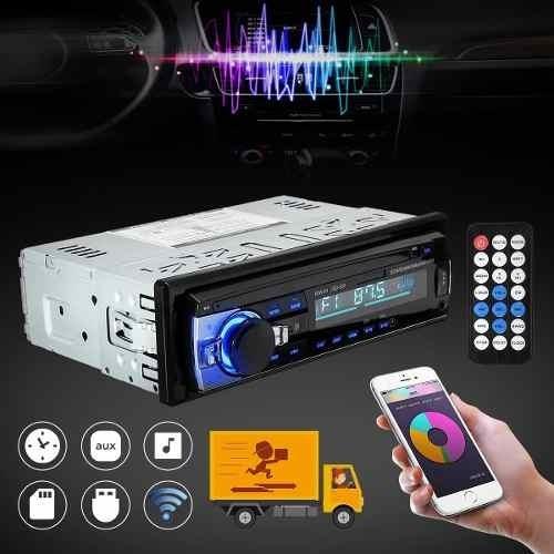 Radio Automotivo Bluetooth Fm Sd Usb Aux 60w X 4 1 Din Mp3