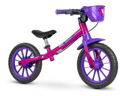 Bicicleta Aro 12 Infantil Equilibrio Nathor Sem Pedal Balanc